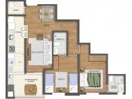 2 dormitórios (Opção 2)
